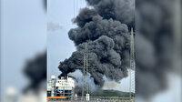Almanya'da ilaç fabrikasındaki patlama sonrası ilk görüntüler