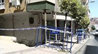 İstanbul Güngören'de tahliye edilen binanın betonundan deniz kumu çıktı