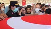 Kuzey Irak şehidine acı veda: Gözyaşları sel oldu