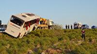 Aksaray'da yolcu otobüsü devrildi: 22 yaralı var