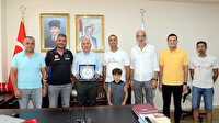 Akdeniz Belediye Başkanı Gültak'a plaket