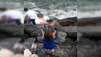 Bakırköy'de boğulmak üzere olan çocukları vatandaşlar kurtardı