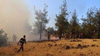 Kilis'te çıkan orman yangını kontrol altına alınmaya çalışılıyor