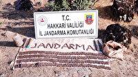 Hakkari'de terör örgütü PKK'ya yönelik operasyonda arazide mühimmat bulundu