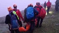 Kaçkarlarda düşen iki dağcı 33 saatte kurtarıldı