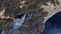 Göktürk uyduları yangın felaketini böyle görüntüledi