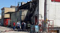 Kocaeli'de kimyasal maddelerin bulunduğu fabrika alevlere teslim oldu