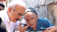 Cumhurbaşkanı Erdoğan yangında evi zarar gören Süleyman dede ile görüştü