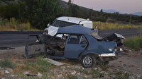 Kazada otomobil iki parçaya ayrıldı: 2 ölü