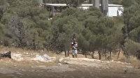 Yahudi işgalci İsrail askerinin silahını alarak Filistinlilere ateş açtı