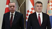 Cumhurbaşkanı Erdoğan Hırvat mevkidaşı Milanoviç ile görüştü: Müttefiklik ilişkileri böyle günlerde daha anlamlı
