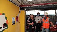 Marmara depreminde ağır hasar alan ve 22 yıldır bekleyen binanın yıkımına başlandı