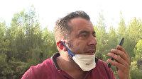 Orman işçisi babanın oğluyla duygulandıran konuşması: Helikopterli amcalarınız benim arkadaşlarım söndürecekler