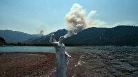 Dünyaca ünlü Kızkumu Plajı'nın acı manzarası: Yangına aldırış etmediler