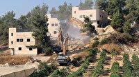 İşgalci İsrail güçleri Filistinli kardeşlere ait 3 evi yıktı