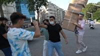 TikTok uğruna: Fenomen isimden Taksim Meydanı'nda tepki çeken şaka