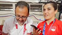 Cumhurbaşkanı Erdoğan'dan altın madalya alan Busenaz Sürmeneli'ye tebrik telefonu