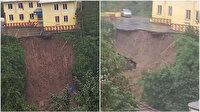 Rize'de heyelan: 6 kişi çay bahçesinde mahsur kaldı