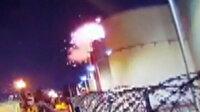 Mersin'de drone petrol tankına çarptı: Patlama anı kamerada