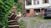 Rize'de şiddetli yağışlar sonrası bazı evler önlem için tahliye edildi