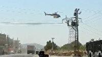 Şanlıurfa'da yüksek gerilim hattı helikopterle temizlendi