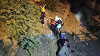Denizli'de feci kaza: Ağaçları deviren otomobil ikiye bölündü