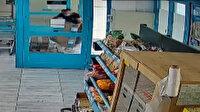 Osmaniye'de marketten güpegündüz  TV hırsızlığı kamerada