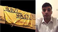 'Hudut namustur' pankartı açan gençten açıklama: Buğra Kavuncu astırdı para vadettiler