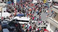 Freni patlayan servis aracı öğrencilerin arasına daldı: 4 yaralı