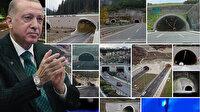 Cumhurbaşkanı Erdoğan'dan son 19 yılda yapılan tünellere ilişkin paylaşım: Dağları deldik denizleri aştık