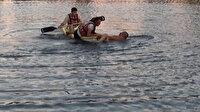 Antalya'da Titreyengöl'e giren Rus turist güçlükle çıkarıldı