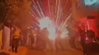 Sancaktepe'de düğünde havai fişek bomba gibi patladı davetliler böyle kaçıştı