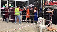 300 liralık halı 50 liraya düştü: Müşteriler kuyruğa girdi
