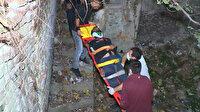 Manzara izlerken 15 metrelik tarihi surlardan yere çakıldı: Hayati tehlikesi bulunuyor