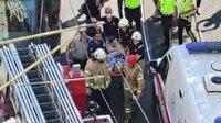 Gülhane tramvay durağında akıl almaz kaza