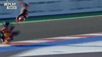 Milli motosikletçi Deniz Öncü'den korkutan kaza