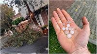 Yağmur bekleyen İstanbul doluya tutuldu