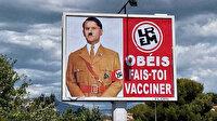 Macron Hitler'e benzetilmişti: Afişi asan pano sahibine 10 bin euro ceza