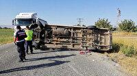 Kahramanmaraş'ta tarım işçilerini taşıyan minibüs devrildi: Bir ölü 15 yaralı var