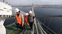Bakan Karaismailoğlu 1915 Çanakkale Köprüsü'nden yürüyerek Anadolu'dan Avrupa kıtasına 3,5 saatte geçti