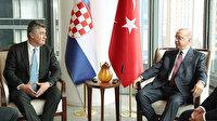 Cumhurbaşkanı Erdoğan Hırvatistan Cumhurbaşkanı Milanoviç ve Slovenya Cumhurbaşkanı Pahor ile görüştü