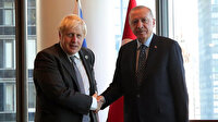 Cumhurbaşkanı Erdoğan İngiltere Başbakanı Johnson'u kabul etti