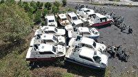 Deniz taksi mezarlığı: Yenileri denize indi eskileri çürümeye terkedildi