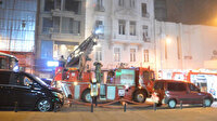 Ünlü oyuncuya ait oyunculuk akademisinin bulunduğu binada korkutan yangın