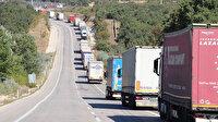 Sınırda 20 kilometrelik TIR kuyruğu: Şoförler isyan etti