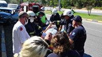Seyir halindeyken sara krizi geçirdi: Ağaca çarpıp yaralandı