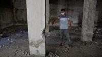 Sultangazi'de faciaya kıl payı: Davalık olduğu binanın kolonlarını kırmaya çalışırken yakalandı