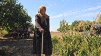 Bahçesine sebze ekiyor kendi yemeğini pişiriyor: 107 yaşındaki asırlık nine her işini kendi görüyor