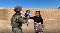 Suriye'de bölge halkına Mehmetçik'ten şefkat eli