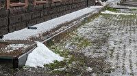Ardahan'da vatandaşları şaşırtan görüntü: Her yer beyaza büründü